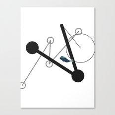 undulate geometric with whale Canvas Print