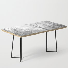 Black and White Forest Illustration Coffee Table