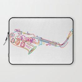 Stylized  saxophone Laptop Sleeve