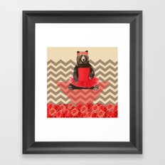 the bear who wanted to become a dancer Framed Art Print