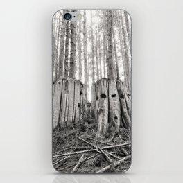 Nurse Stump Pacific Northwest Forest Cedar Trees Sepia Print iPhone Skin