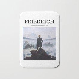 Friedrich - Wanderer Above the Sea of Fog Bath Mat