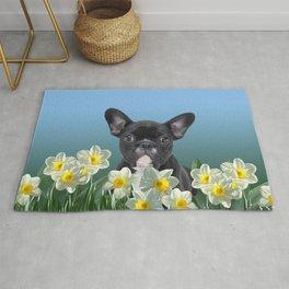 French Bulldog in Daffodils Field Rug