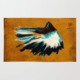 Native Headdress Orange Edit Rug