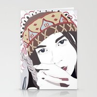 headdress Stationery Cards featuring Headdress by Footeprints