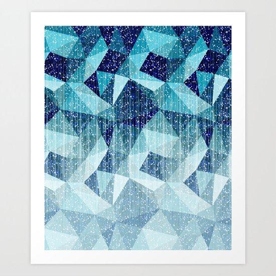 Arctic night Art Print