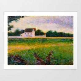 Landscape of the Ile de France Post-Impressionism landscape Oil Painting Countryside Cottages Farm Art Print