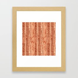 Braided Red Hair Framed Art Print
