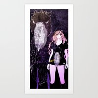 studio killers Art Prints featuring PINKY & KILLERS by Chandelina