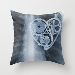 X Ray Bicycle heart components Throw Pillow