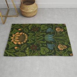 William Morris vintage pattern design Rug