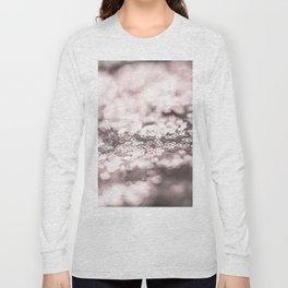 Shiny rose sparkling bokeh Long Sleeve T-shirt