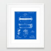 drum Framed Art Prints featuring Drum Patent by Finlay McNevin