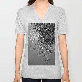 Sparkling Silver Gray Lady Glitter #1 #shiny #decor #art #society6 Unisex V-Neck