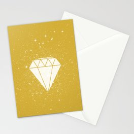 Space Diamond (gold) Stationery Cards