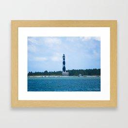 Cape Lookout Lighthouse Framed Art Print