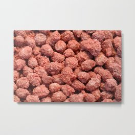 Caramelized peanuts Metal Print