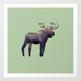 The Moose Art Print