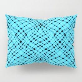 Neon abstract  black -blue Pillow Sham