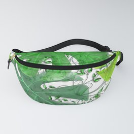 PALM LEAF B0UNTY GREEN AND WHITE Fanny Pack