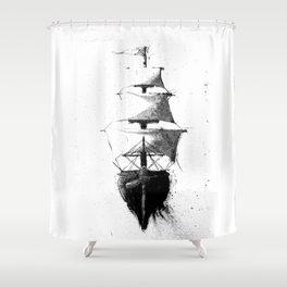 HMS Terror Shower Curtain