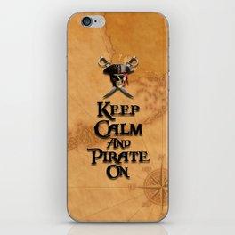 Keep Calm And Pirate On iPhone Skin