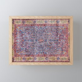 Kashan Central Persian Rug Print Framed Mini Art Print