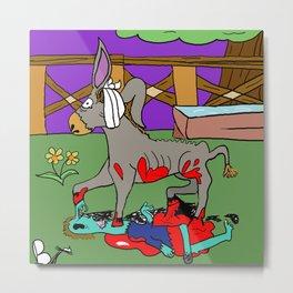 Frightening Critters Donkey Metal Print