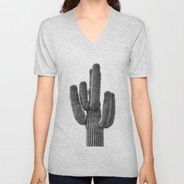 Cactus Wall Art, Saguaro Wall Art, Black and White, Desert Wall Art Unisex V-Neck