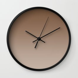 Brown to Pastel Brown Horizontal Linear Gradient Wall Clock
