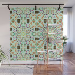 """Seamless pattern in the style of """"printed circuit board"""" Wall Mural"""