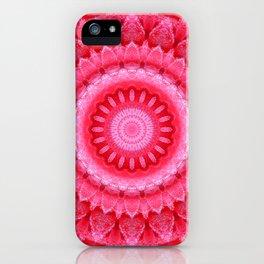 Mandala Rose petals iPhone Case