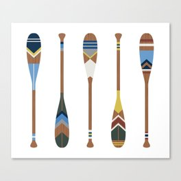 Painted Oars Canvas Print