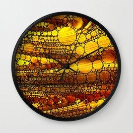 Golden Sun Strata Wall Clock