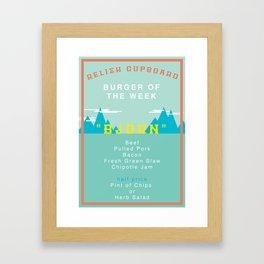 Burger Of The Week Framed Art Print
