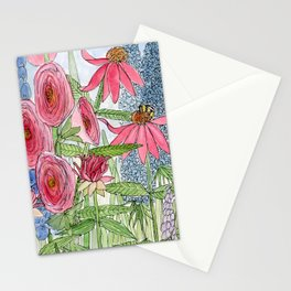 Summer Flowers Watercolor  Stationery Cards