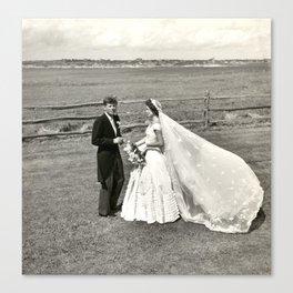 The Kennedys' Wedding Canvas Print