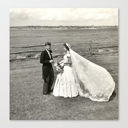 The Kennedys' Wedding Canvas Print
