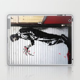 Banksy, Man with flowers Laptop & iPad Skin