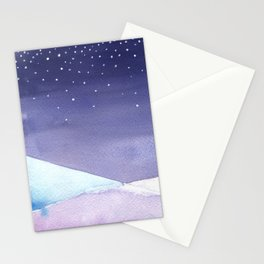 Snowy Landscape Abstract Stationery Cards