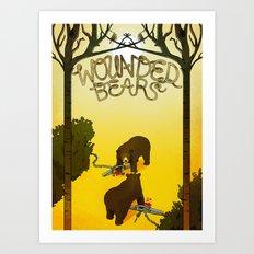 Wounded Bears Art Print