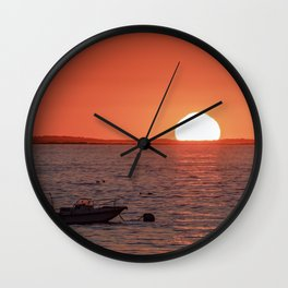Plum Cove Beach Sunset 7-11-18 Wall Clock