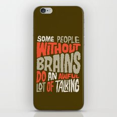 People Without Brains iPhone & iPod Skin