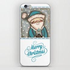 Blue Santa - by Diane Duda iPhone & iPod Skin