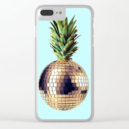 Ananas party (pineapple) blue version Clear iPhone Case