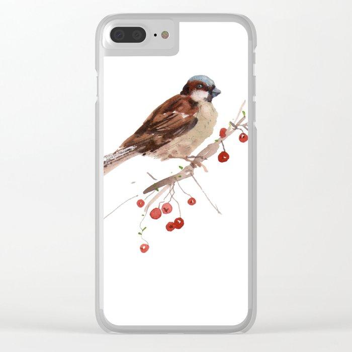 Cute sparrow Clear iPhone Case