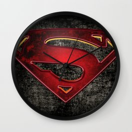 Superman Logo Wall Clock