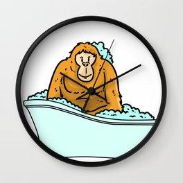 Bathtub monkey Wall Clock