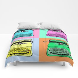 Let's warholize! Olivetti lettera22-style full of color Comforters