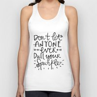 sparkle Tank Tops featuring Sparkle by Tinta Caramelo